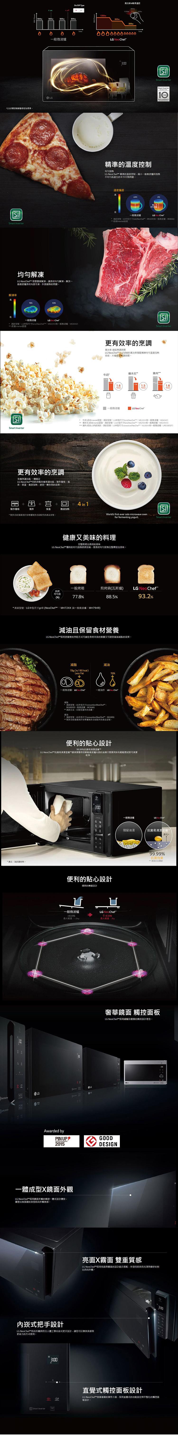 【好禮贈 Bodum隨行杯】LG樂金 42L NeoChef™智慧變頻蒸烤微波爐 MH8295CDS